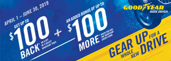 Goodyear Tire Rebates - $100